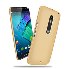 Handyhülle Hülle Kunststoff Schutzhülle Matt für Motorola Moto X Style Gold