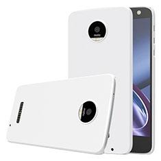 Handyhülle Hülle Kunststoff Schutzhülle Matt für Motorola Moto Z Weiß
