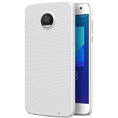 Handyhülle Hülle Kunststoff Schutzhülle Matt für Motorola Moto Z2 Play Weiß