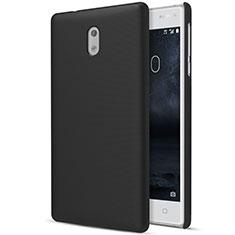 Handyhülle Hülle Kunststoff Schutzhülle Matt für Nokia 3 Schwarz
