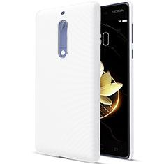 Handyhülle Hülle Kunststoff Schutzhülle Matt für Nokia 5 Weiß
