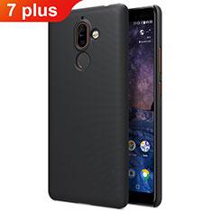 Handyhülle Hülle Kunststoff Schutzhülle Matt für Nokia 7 Plus Schwarz