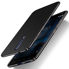 Handyhülle Hülle Kunststoff Schutzhülle Matt für Nokia 8 Schwarz