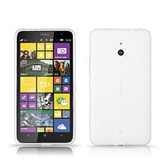 Handyhülle Hülle Kunststoff Schutzhülle Matt für Nokia Lumia 1320 Weiß
