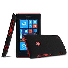 Handyhülle Hülle Kunststoff Schutzhülle Matt für Nokia Lumia 525 Schwarz