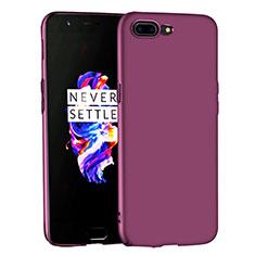 Handyhülle Hülle Kunststoff Schutzhülle Matt für OnePlus 5 Violett