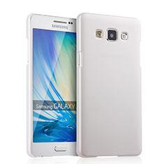 Handyhülle Hülle Kunststoff Schutzhülle Matt für Samsung Galaxy A5 Duos SM-500F Weiß