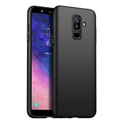 Handyhülle Hülle Kunststoff Schutzhülle Matt für Samsung Galaxy A6 Plus (2018) Schwarz