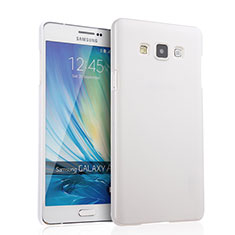 Handyhülle Hülle Kunststoff Schutzhülle Matt für Samsung Galaxy A7 Duos SM-A700F A700FD Weiß