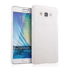 Handyhülle Hülle Kunststoff Schutzhülle Matt für Samsung Galaxy A7 SM-A700 Weiß