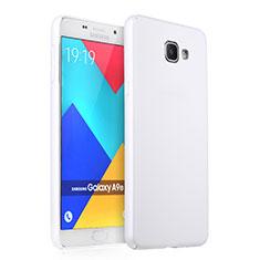 Handyhülle Hülle Kunststoff Schutzhülle Matt für Samsung Galaxy A9 (2016) A9000 Weiß