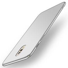 Handyhülle Hülle Kunststoff Schutzhülle Matt für Samsung Galaxy C7 (2017) Silber
