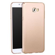 Handyhülle Hülle Kunststoff Schutzhülle Matt für Samsung Galaxy C7 Pro C7010 Gold