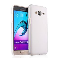 Handyhülle Hülle Kunststoff Schutzhülle Matt für Samsung Galaxy J3 (2016) J320F J3109 Weiß