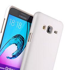 Handyhülle Hülle Kunststoff Schutzhülle Matt für Samsung Galaxy J3 Weiß