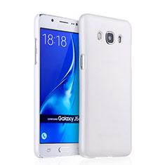 Handyhülle Hülle Kunststoff Schutzhülle Matt für Samsung Galaxy J5 Duos (2016) Weiß