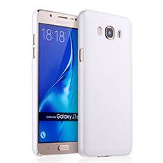 Handyhülle Hülle Kunststoff Schutzhülle Matt für Samsung Galaxy J7 (2016) J710F J710FN Weiß