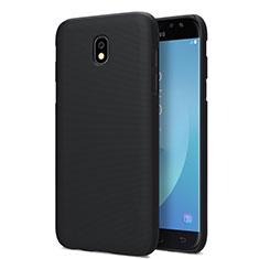 Handyhülle Hülle Kunststoff Schutzhülle Matt für Samsung Galaxy J7 Pro Schwarz