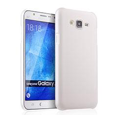 Handyhülle Hülle Kunststoff Schutzhülle Matt für Samsung Galaxy J7 SM-J700F J700H Weiß