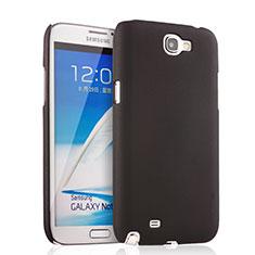 Handyhülle Hülle Kunststoff Schutzhülle Matt für Samsung Galaxy Note 2 N7100 N7105 Schwarz