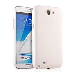 Handyhülle Hülle Kunststoff Schutzhülle Matt für Samsung Galaxy Note 2 N7100 N7105 Weiß
