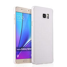 Handyhülle Hülle Kunststoff Schutzhülle Matt für Samsung Galaxy Note 5 N9200 N920 N920F Weiß