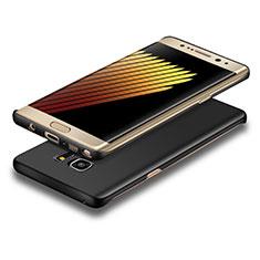 Handyhülle Hülle Kunststoff Schutzhülle Matt für Samsung Galaxy Note 7 Schwarz