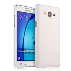 Handyhülle Hülle Kunststoff Schutzhülle Matt für Samsung Galaxy On5 G550FY Weiß
