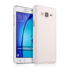 Handyhülle Hülle Kunststoff Schutzhülle Matt für Samsung Galaxy On7 G600FY Weiß