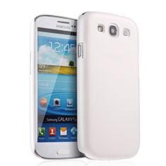 Handyhülle Hülle Kunststoff Schutzhülle Matt für Samsung Galaxy S3 III LTE 4G Weiß
