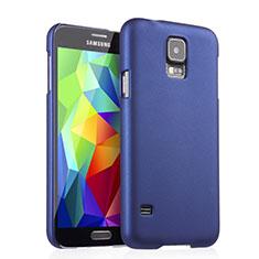 Handyhülle Hülle Kunststoff Schutzhülle Matt für Samsung Galaxy S5 G900F G903F Blau
