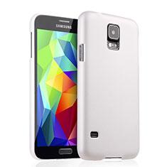 Handyhülle Hülle Kunststoff Schutzhülle Matt für Samsung Galaxy S5 G900F G903F Weiß