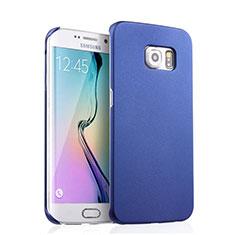 Handyhülle Hülle Kunststoff Schutzhülle Matt für Samsung Galaxy S6 Edge SM-G925 Blau