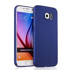 Handyhülle Hülle Kunststoff Schutzhülle Matt für Samsung Galaxy S6 SM-G920 Blau