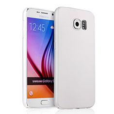 Handyhülle Hülle Kunststoff Schutzhülle Matt für Samsung Galaxy S6 SM-G920 Weiß