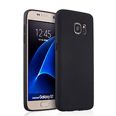 Handyhülle Hülle Kunststoff Schutzhülle Matt für Samsung Galaxy S7 G930F G930FD Schwarz