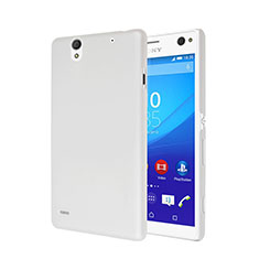 Handyhülle Hülle Kunststoff Schutzhülle Matt für Sony Xperia C4 Weiß