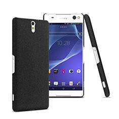 Handyhülle Hülle Kunststoff Schutzhülle Matt für Sony Xperia C5 Ultra Schwarz