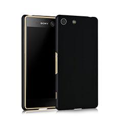 Handyhülle Hülle Kunststoff Schutzhülle Matt für Sony Xperia M5 Schwarz