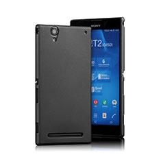 Handyhülle Hülle Kunststoff Schutzhülle Matt für Sony Xperia T2 Ultra Dual Schwarz