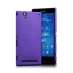 Handyhülle Hülle Kunststoff Schutzhülle Matt für Sony Xperia T2 Ultra Dual Violett