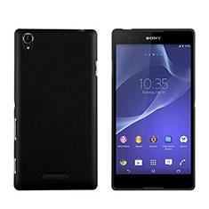 Handyhülle Hülle Kunststoff Schutzhülle Matt für Sony Xperia T3 Schwarz
