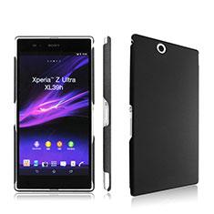 Handyhülle Hülle Kunststoff Schutzhülle Matt für Sony Xperia Z Ultra XL39h Schwarz