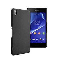 Handyhülle Hülle Kunststoff Schutzhülle Matt für Sony Xperia Z2 Schwarz