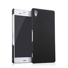 Handyhülle Hülle Kunststoff Schutzhülle Matt für Sony Xperia Z3 Schwarz