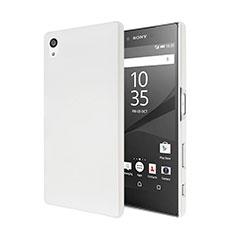 Handyhülle Hülle Kunststoff Schutzhülle Matt für Sony Xperia Z5 Weiß