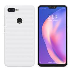 Handyhülle Hülle Kunststoff Schutzhülle Matt für Xiaomi Mi 8 Lite Weiß