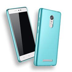 Handyhülle Hülle Kunststoff Schutzhülle Matt für Xiaomi Redmi Note 3 Hellblau