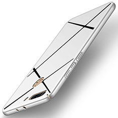 Handyhülle Hülle Kunststoff Schutzhülle Matt Line für Huawei Honor V9 Silber
