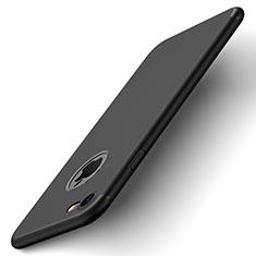 Handyhülle Hülle Kunststoff Schutzhülle Matt Loch für Apple iPhone 7 Schwarz
